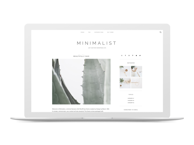 Minimalist Theme