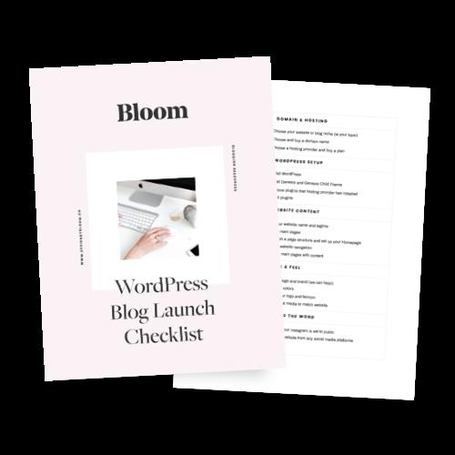 WordPress Blog Launch Checklist