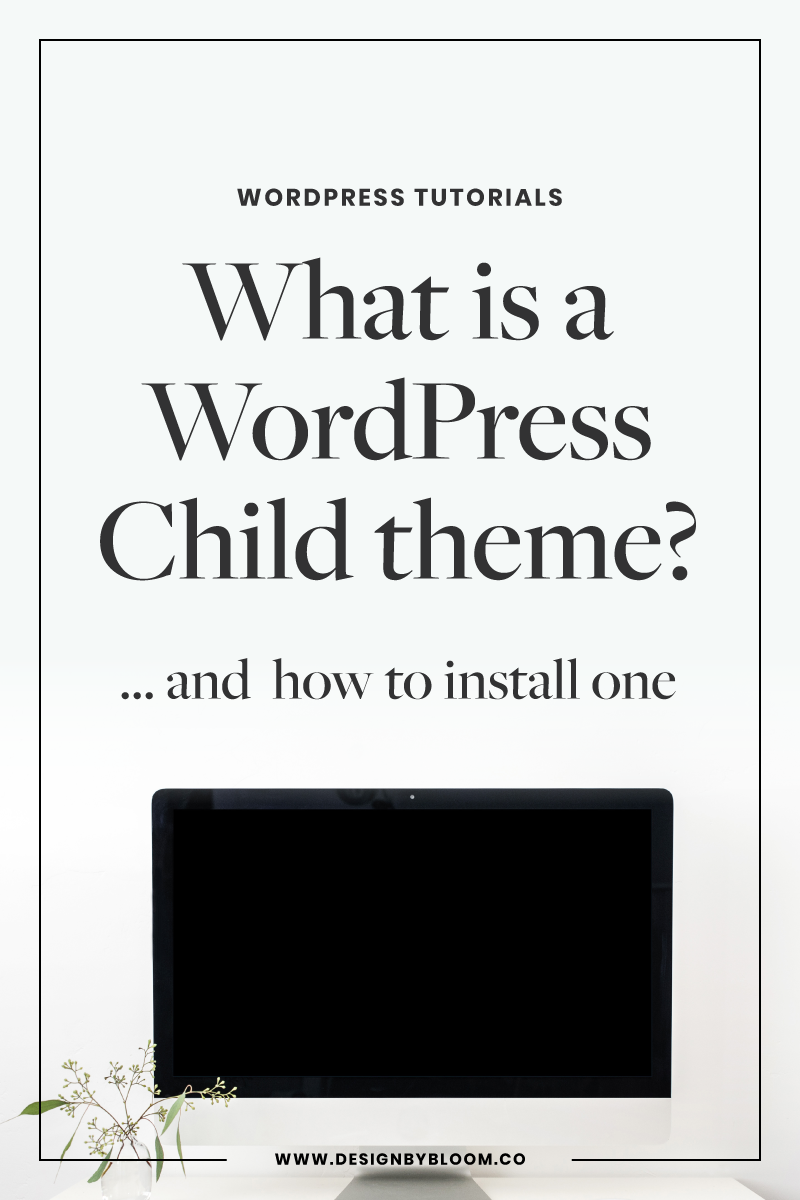 What is a WordPress Child theme and how to install one #wordpress #genesis