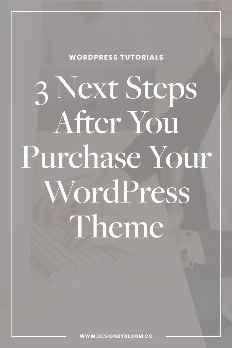 3 Next Steps after you purchase your WordPress Theme