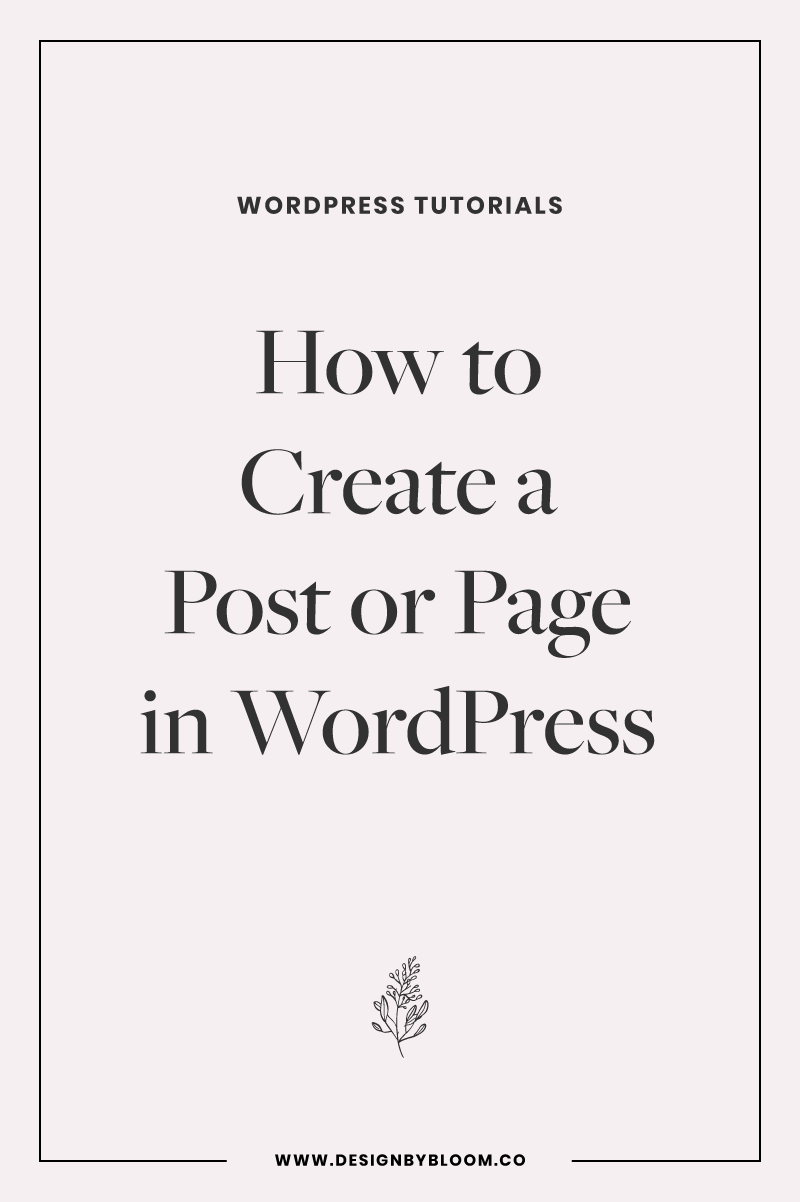 How to Create a Post or Page in WordPress