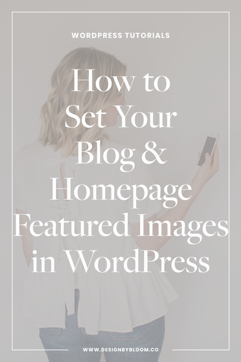 How to Set Your Blog and Home Page Featured Images in WordPress