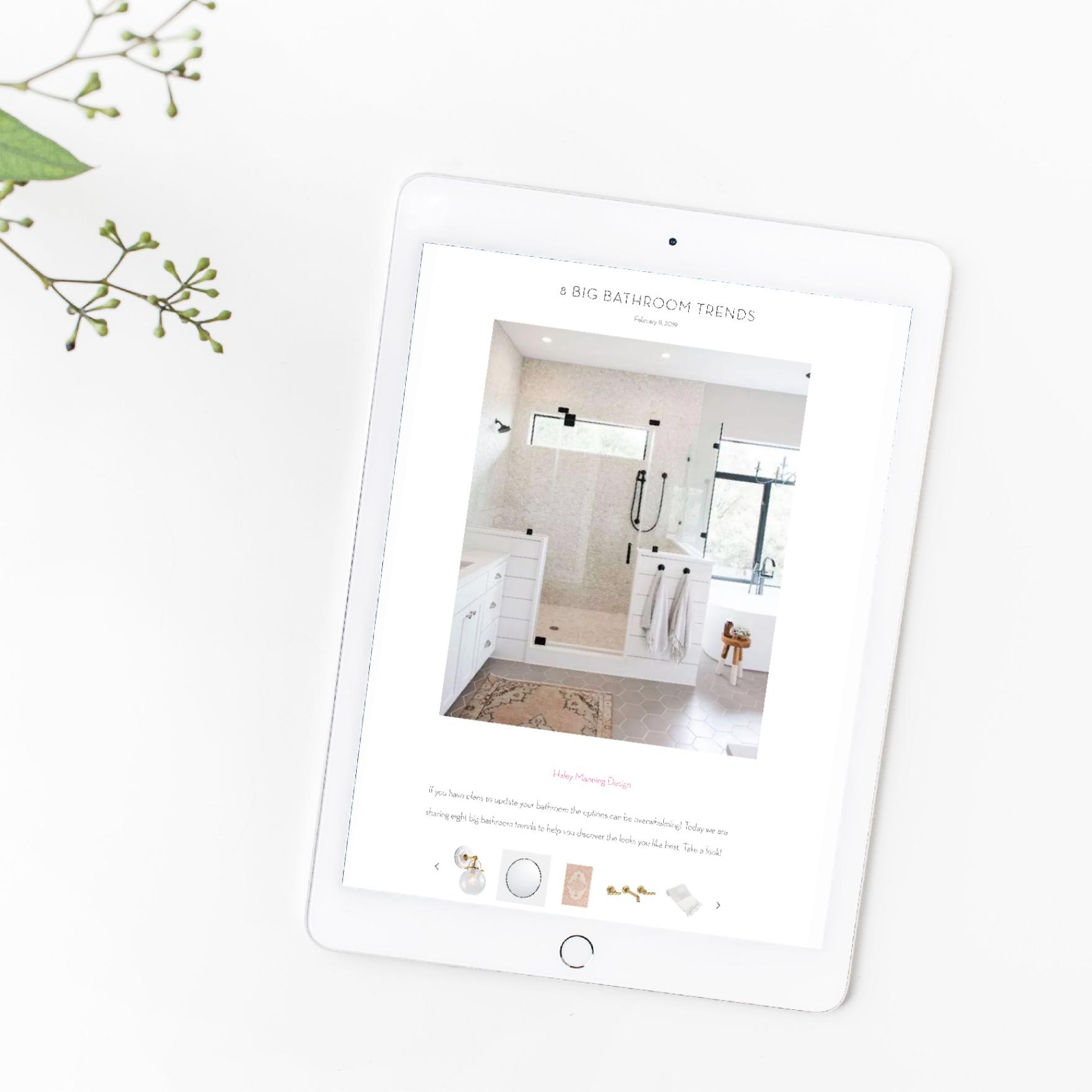 Becki Owens Interior Design Website and Blog Design