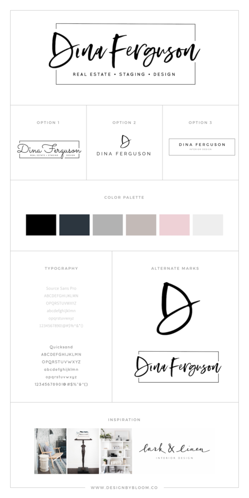 Brand Board- WordPress Logo Design Client- Dina Ferguson-01