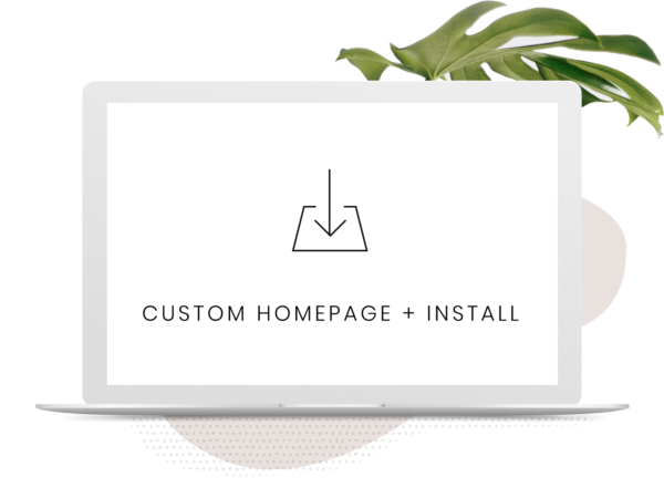 Custom-Homepage WordPress Installation