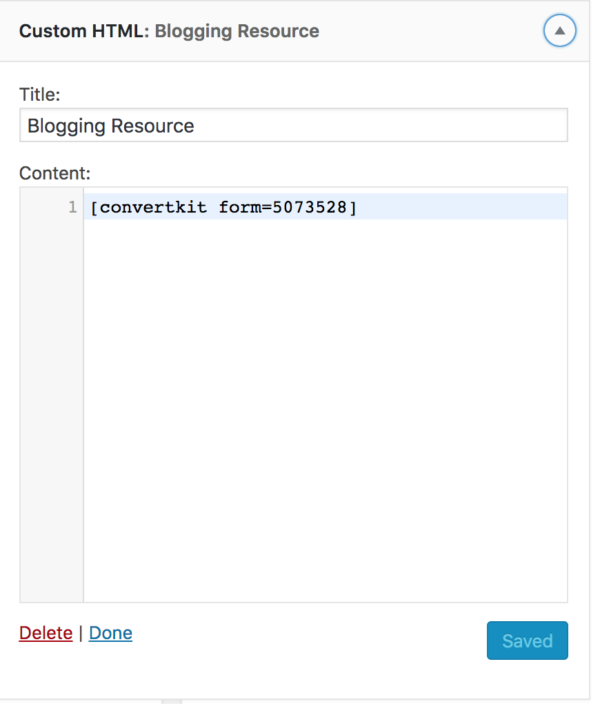 How to Add a ConvertKit Form to a WordPress Blog or Website